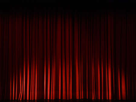 red curtains: Stage curtain