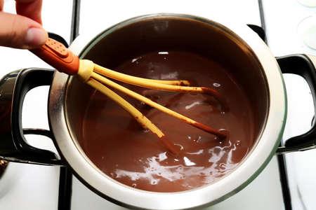 utensilios de cocina: Cocinar pudding en los utensilios de cocina