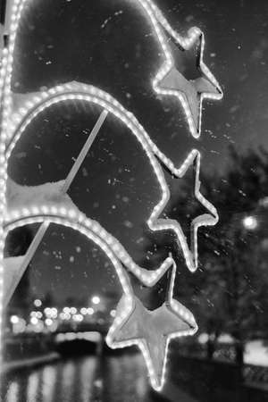 star shaped: Star shaped city decoration