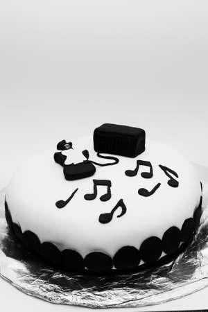 Sweet pastry decorated birthday cake photo
