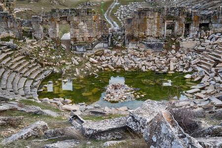 greco roman  roman: Aizanoi zeus temple ruins Stock Photo