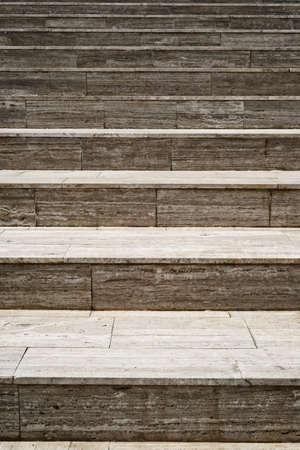 Marble stairway in open air photo