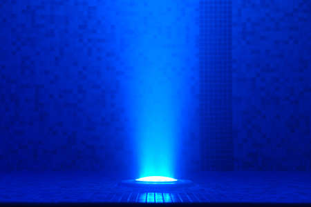 Blue underwater pool light Stock Photo