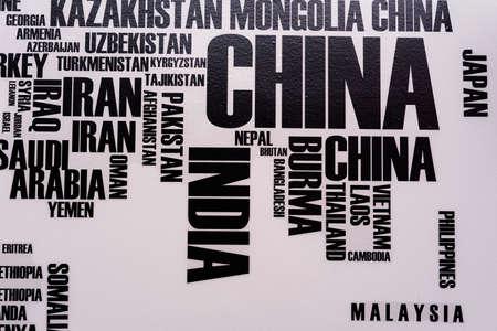 sticker design: Wall sticker world map Stock Photo