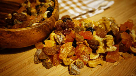 Dried fruits and nuts snacks
