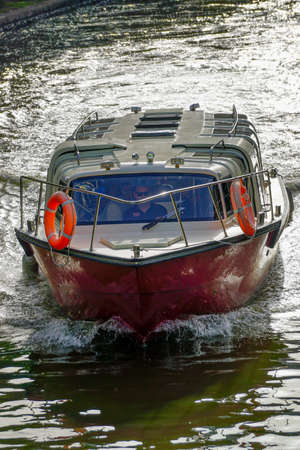 the hovercraft: Boat on the river