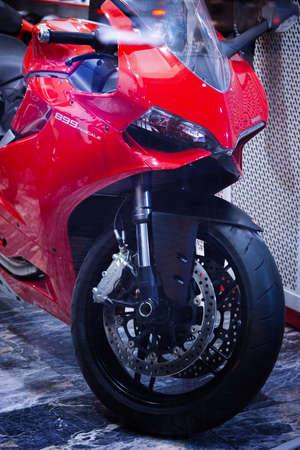 Red ducati Panigale