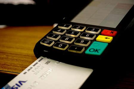 Making a payment card Banco de Imagens