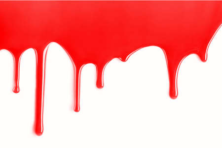 Blood texture on white template background
