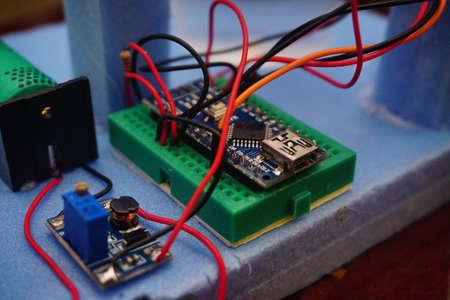 Maker Diy robotic project close up view