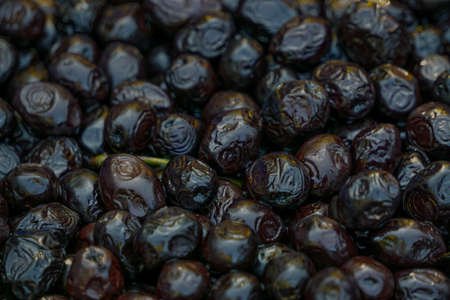 Black olives template texture background