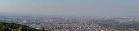Denizli panoramic view from above