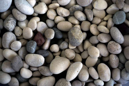 Pebble stone texture background Stock Photo