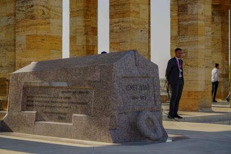 12 October 2019, Ankara Turkey, Ismet Inonu mausoleum in the Anitkabir Editorial