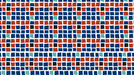 Primitive patterns with vibrant colors seamless texture background
