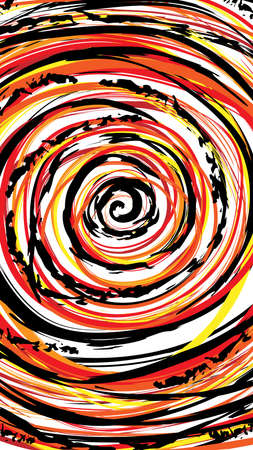 Rabbit hole warp colorful hand drawing illustration