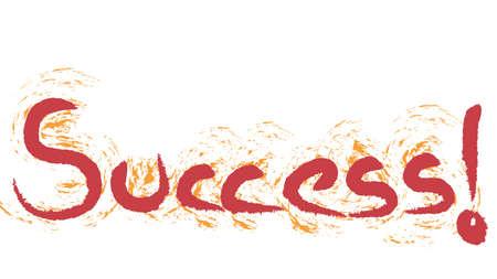 Success! hand writing illustration