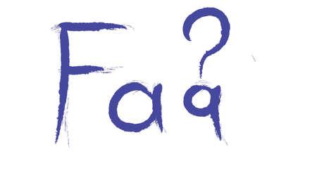 Faq hand writing illustration Archivio Fotografico
