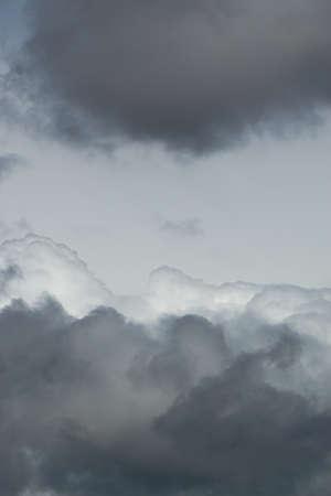 Cloudscape dark clouds atmosphere template background