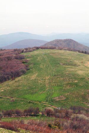 Appalachia Trail Past Bald Mountain North Carolina Stockfoto