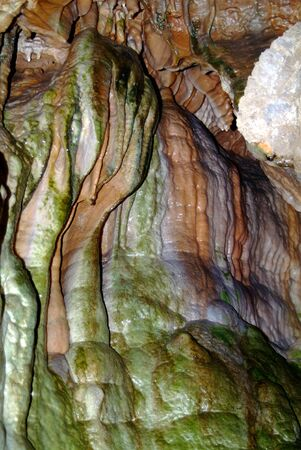 Cave Abstract Created By Water and Minerals 版權商用圖片