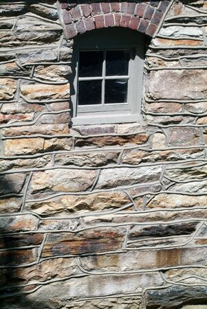 early Window In A Stone Wall