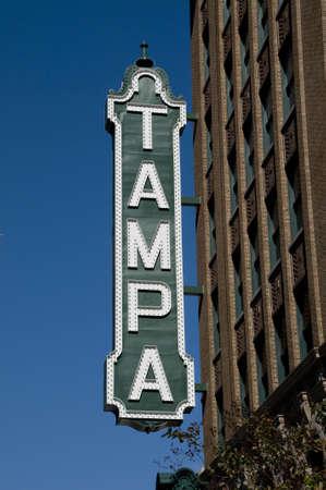 Tampa Inloggen Stockfoto