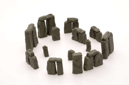 rock formation: Stonehenge Isolated, Rock Formation Stock Photo