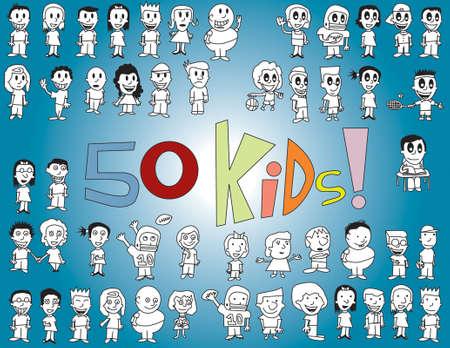 50 Vector Kids
