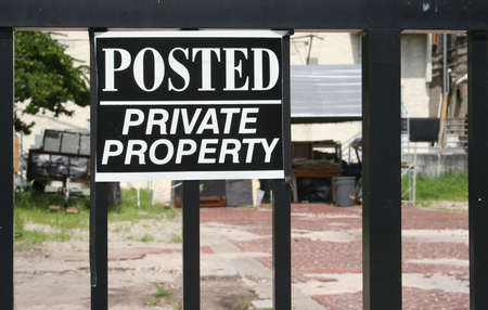 Posted, Private Property Sign Imagens