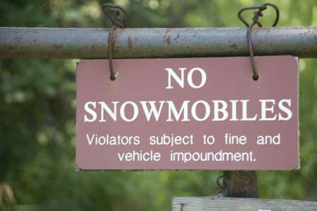 no snow: No Snow Mobile Signs