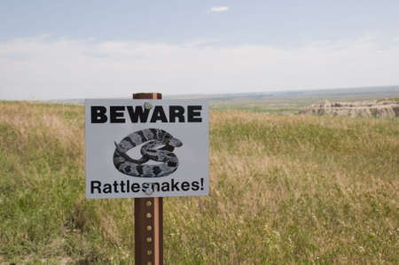Beware of Rattlesnake Sign