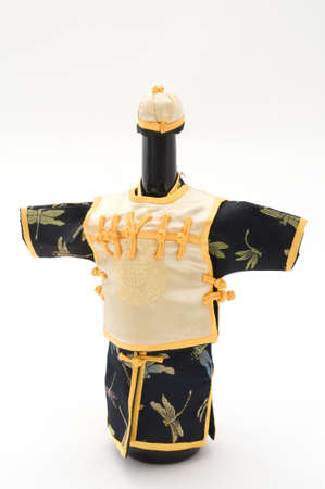 Front View of Wine Bottle Dressed Up Stock fotó