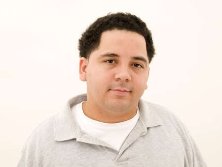 rican: Puerto Rican Male Isolated Stock Photo