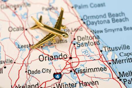 Plane Flying into Orlando