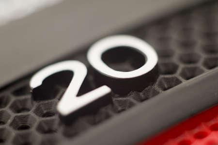 20 Punt markering op Dart Board