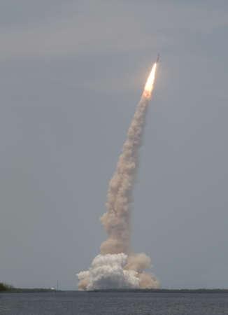 Lancering Shuttle Atlantis Stockfoto