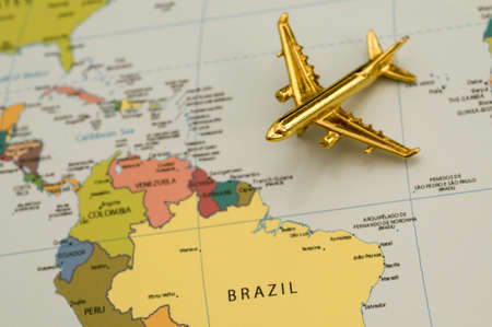 Traveling to South America - Map is Royalty Free Off a Government Website