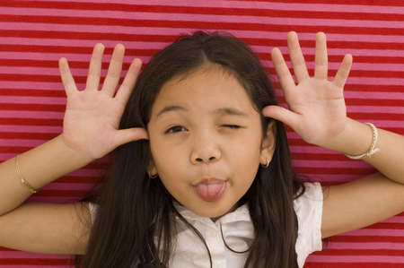 Asian Girl Making Face
