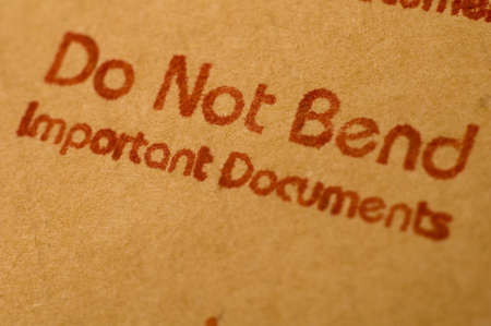 Do not bend important documents