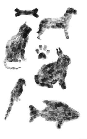 잉크 동물 지문 스톡 콘텐츠 - 6510794