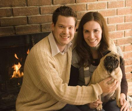 Couple and Pug