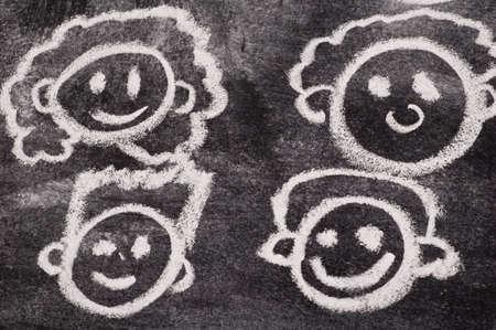 Cartoon Faces Imagens