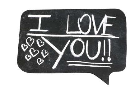 i love you: I Love You on Cartoon Bubble Stock Photo