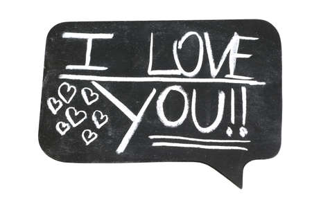 bande dessin�e bulle: I Love You sur la bulle de dessin anim�  Banque d'images
