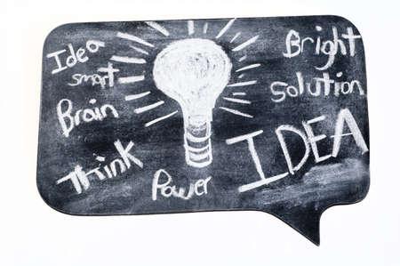 power: chalkboard with ideas