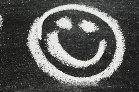 face to face: Smiley Face on Chalk Board