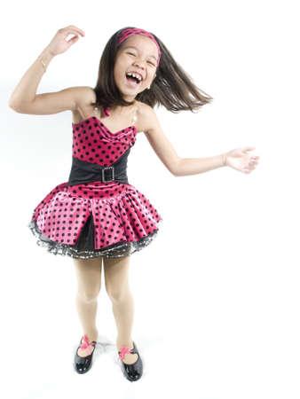 アジアの女の子のダンス