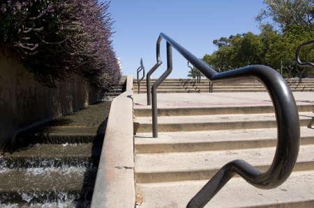 balboa: Railing in Balboa Park Stock Photo