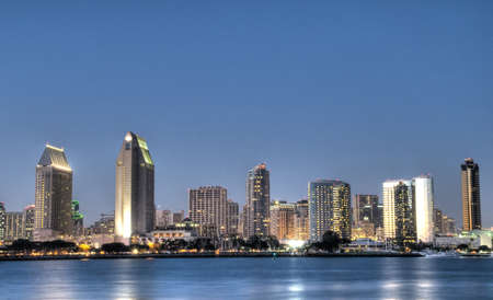 HDR van San Diego Skyline Stockfoto